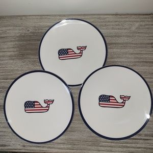 3 Vineyard Vines for Target Flag Appetizer Plates